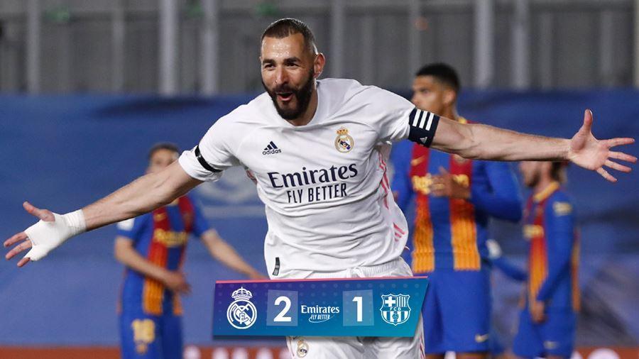 Benzema ghi tuyệt phẩm, Real hạ Barca sau trận 'thủy chiến'