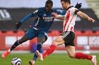 Sheffield Utd 0-0 Arsenal: Saka suýt lập công (H1)