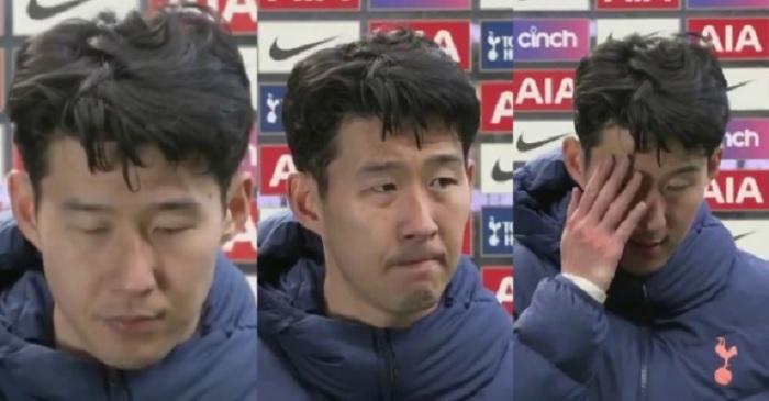 Son Heung Min rầu rĩ muốn khóc sau khi thua MU
