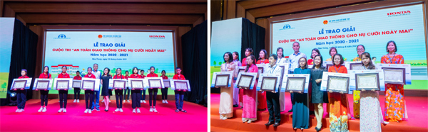 Hàng nghìn học sinh, giáo viên nhận giải 'An toàn giao thông cho nụ cười ngày mai'