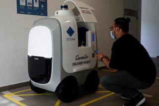 Giao hàng bằng robot thời Covid-19