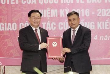 Ông Trần Sỹ Thanh nhận bàn giao nhiệm vụ Tổng Kiểm toán Nhà nước