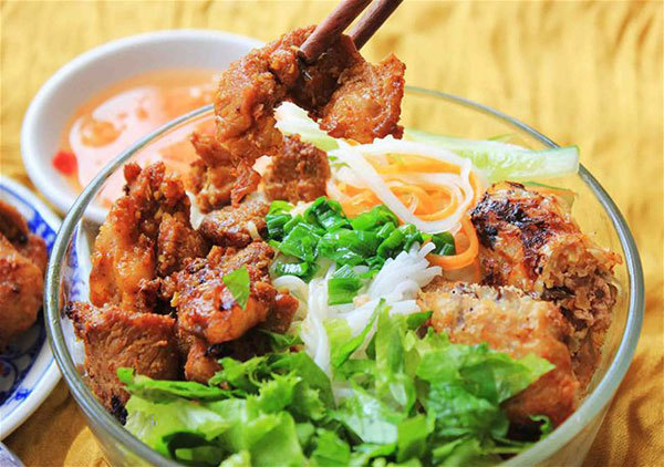 Danang-style rice vermicelli with grilled pork