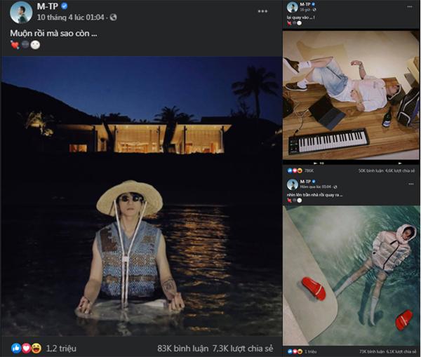 Sơn Tùng M-TP hát live ca khúc mới trong livestream 'Giật mình lần 1'