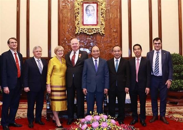 Chủ tịch nước Nguyễn Xuân Phúc tiếp Đại sứ Liên bang Nga đến chào từ biệt
