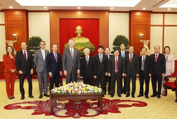 Tổng Bí thư Nguyễn Phú Trọng tiếp Đại sứ Mỹ tại Việt Nam chào từ biệt