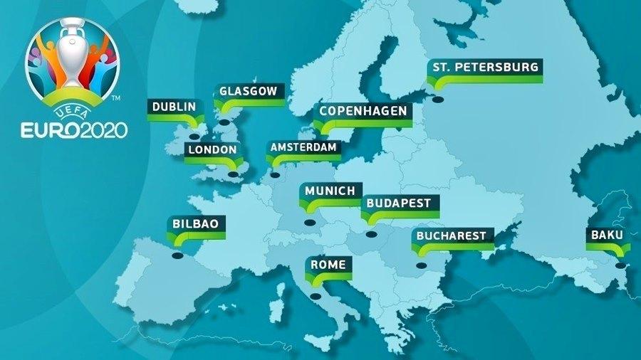 VCK EURO 2020 được tổ chức ở đâu, khi nào?