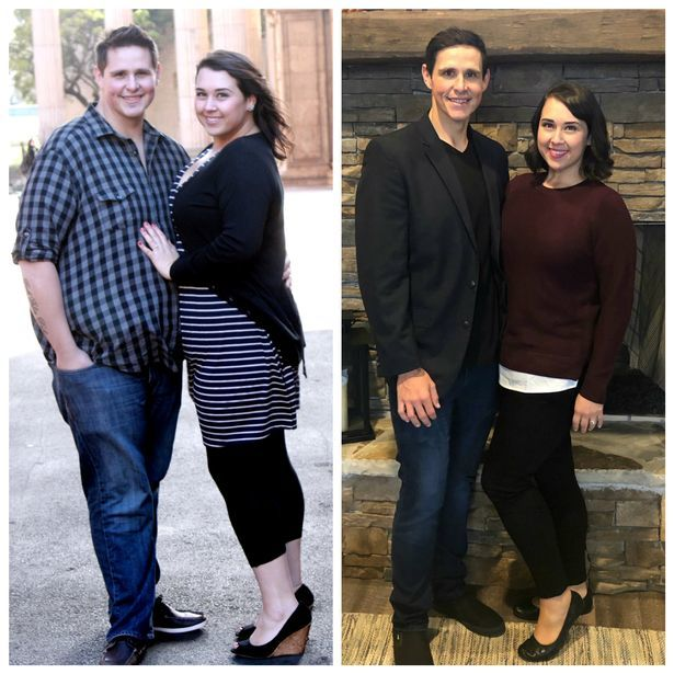 Cặp vợ chồng giảm 190kg để có con