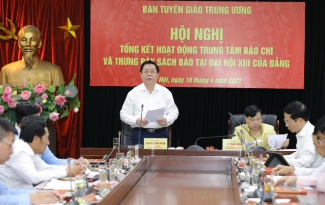 Ông Võ Văn Thưởng: ''Công tác tuyên truyền Đại hội XIII rất là tốt''