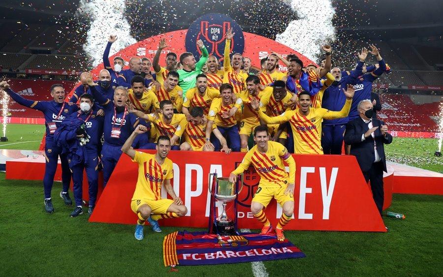 Messi lập cú đúp, Barca lần thứ 31 đoạt Cúp Nhà vua