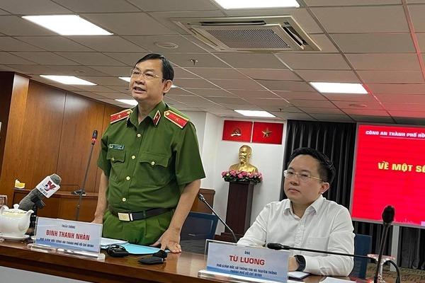 Công an TP.HCM họp báo vụ bắt Lê Chí Thành và đua xe trên cao tốc