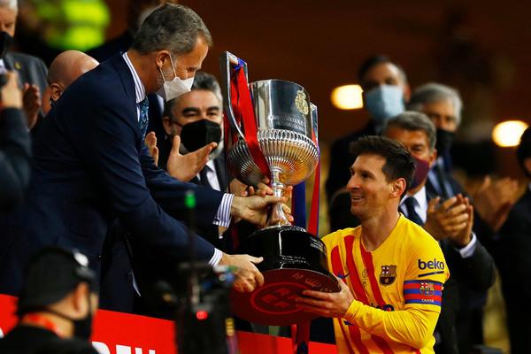 Messi phấn khích với Cúp Nhà vua, quyết giành La Liga