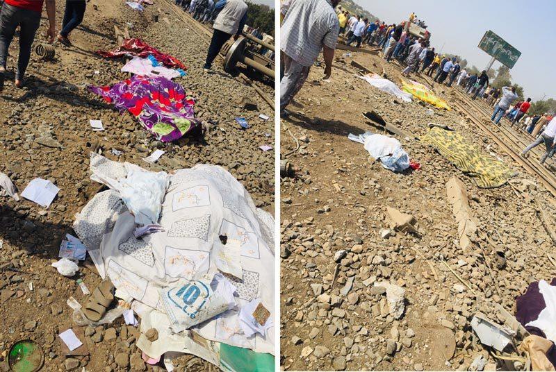 Tàu hỏa trật bánh ở Ai Cập, hơn 100 người thương vong