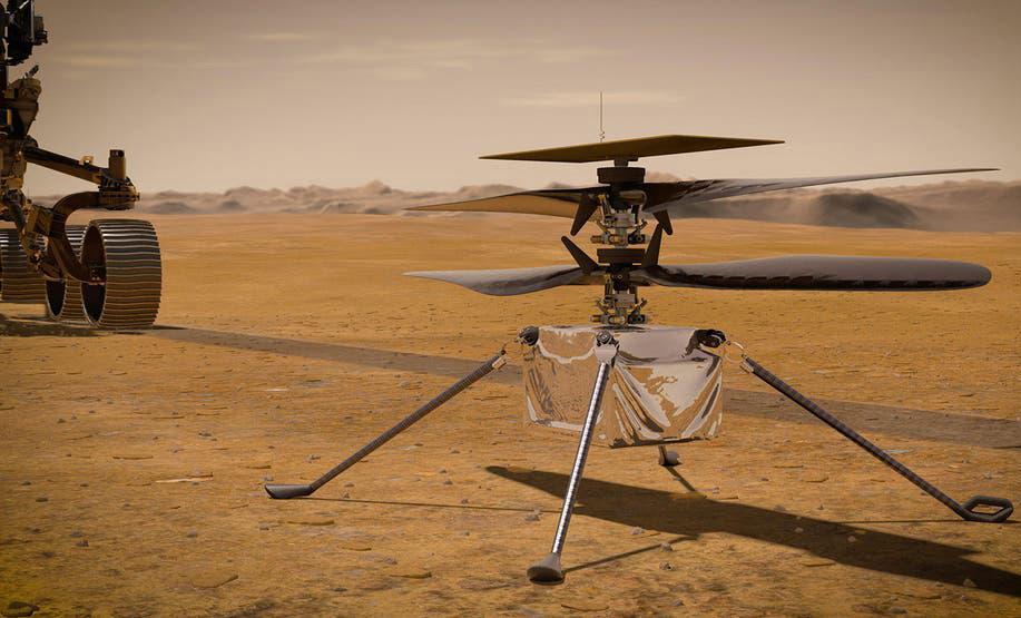 Xem trực tiếp trực thăng của NASA cất cánh trên Hỏa tinh