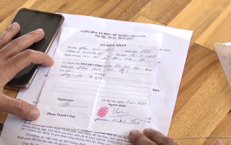 Ham lãi cao, cho vay hàng trăm triệu đồng bằng… giấy viết tay