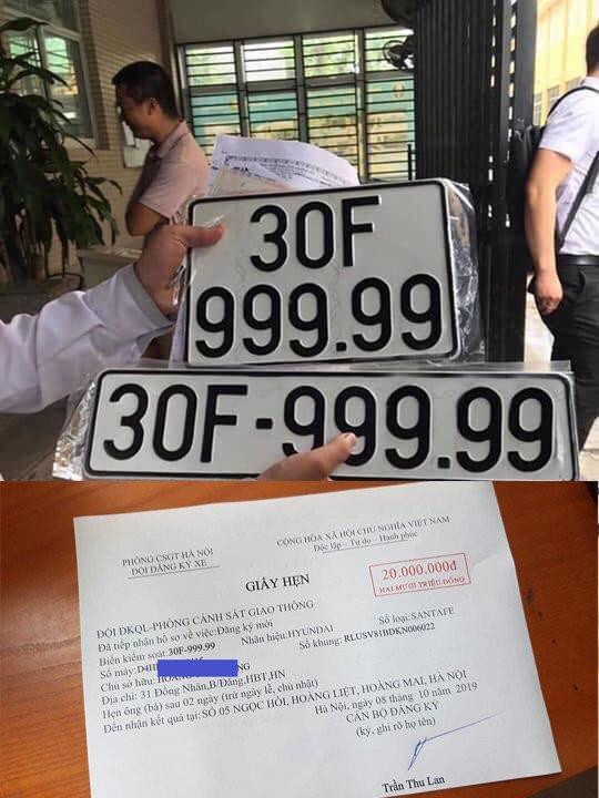 Trúng biển ngũ quý 9, xe Santa Fe đội giá gần 4 tỷ tại Hà Nội