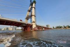 Cầu Thủ Thiêm 2 đang 'tái khởi động' sau hơn 7 tháng dừng thi công