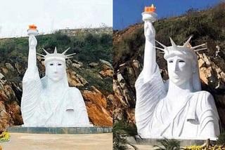 Kiểm tra công trình tượng nữ thần tự do phiên bản 'đột biến' ở Sa Pa
