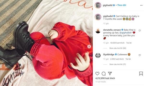Ảnh hiếm hoi con gái đầu lòng của Gigi Hadid