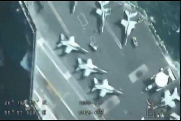 Iran công bố hình ảnh UAV theo dõi tàu sân bay Mỹ