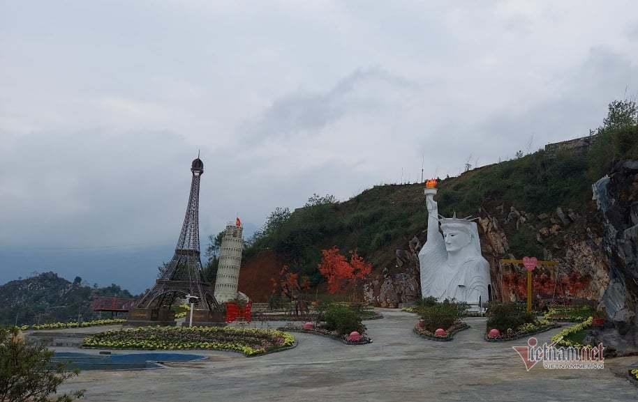 Tượng nữ thần tự do ở Sa Pa dự định sửa thành người đàn ông H'Mông cầm khèn