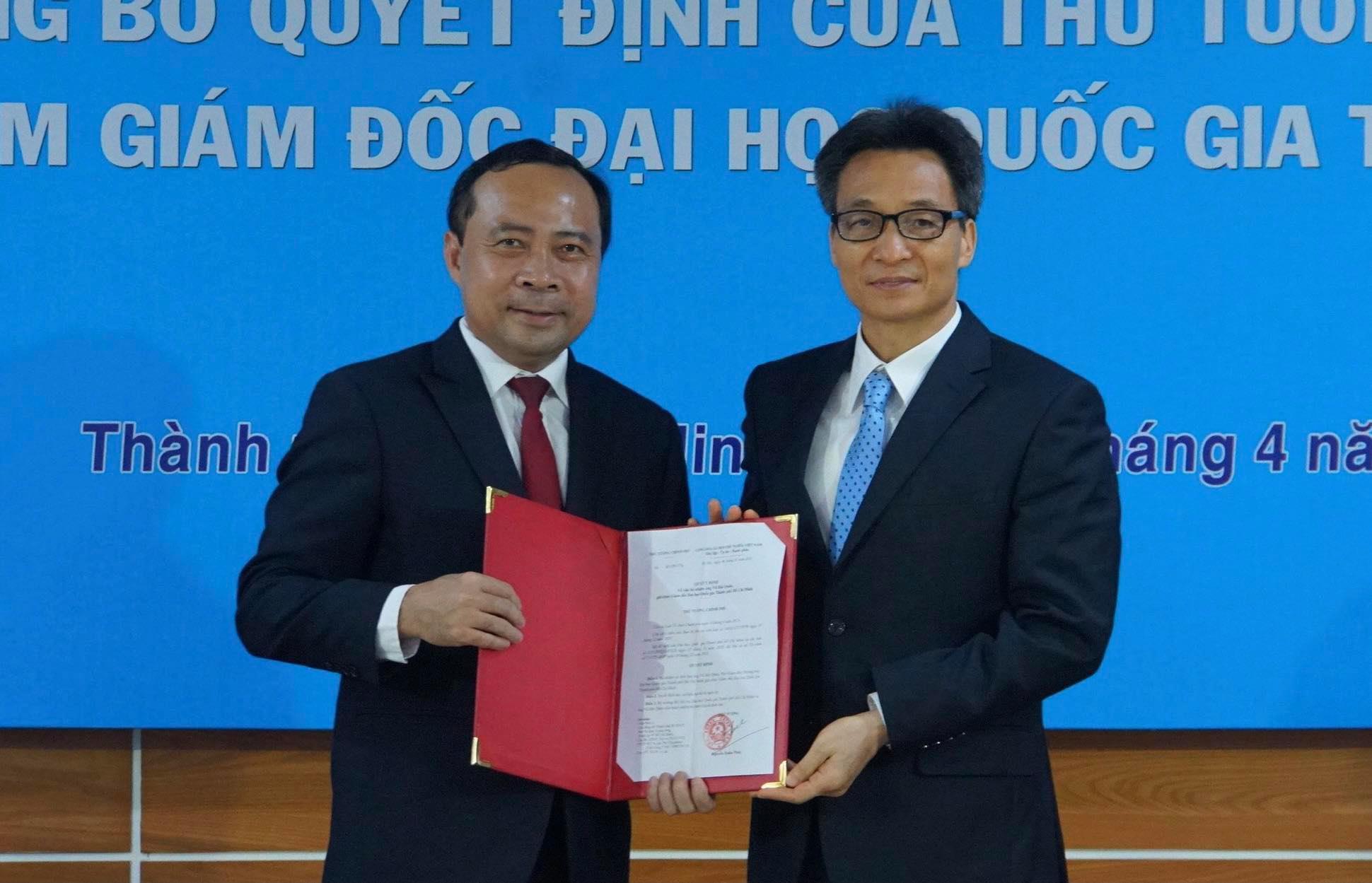 Trao quyết định bổ nhiệm ông Vũ Hải Quân làm giám đốc ĐH Quốc gia TP.HCM