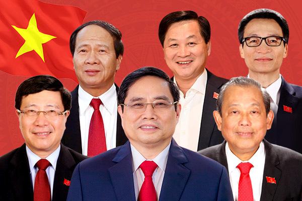 Lĩnh vực công tác của Thủ tướng Phạm Minh Chính và 5 Phó Thủ tướng