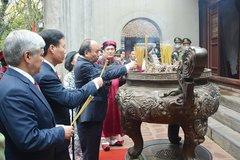 Lễ dâng hương tưởng niệm các Vua Hùng được tổ chức trọng thể