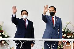 Hình ảnh hoạt động đầu tiên của Thủ tướng Phạm Minh Chính tại Indonesia