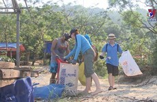 Expats join local people to clean up coastal city