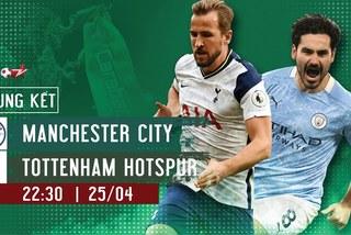 Link xem Man City vs Tottenham: Chung kết Cúp Liên đoàn Anh