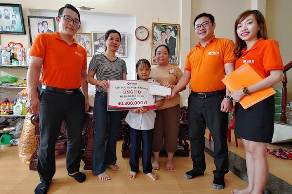 Bạn đọc hỗ trợ bé Phan Thị Lê Na bị u não hơn 80 triệu đồng