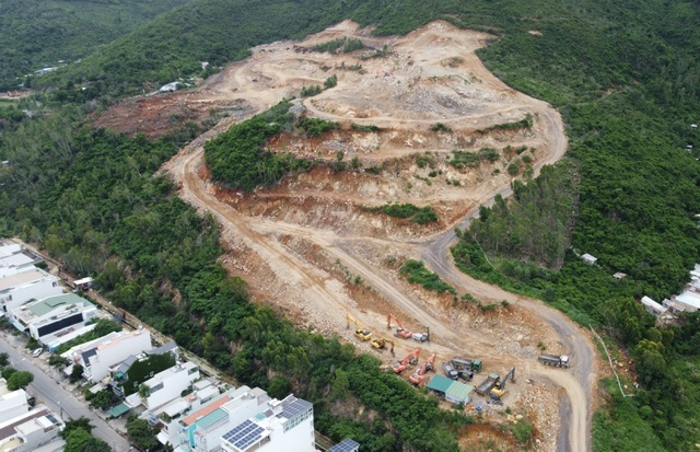 construction works,Khanh Hoa province,protective forest,social news