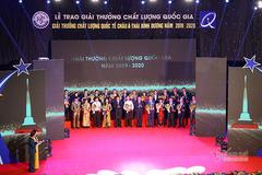 Vinh danh 116 doanh nghiệp đạt Giải thưởng Chất lượng Quốc gia 2019, 2020