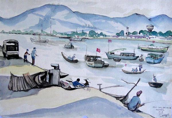 Sketches depict Da Nang's past and present