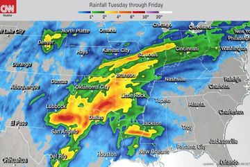 Hàng triệu người Mỹ đối mặt bão lũ và lốc xoáy nghiêm trọng