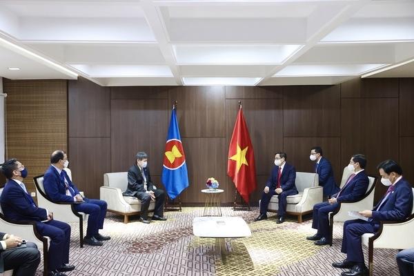 Thủ tướng Phạm Minh Chính cảm ơn những đánh giá tích cực của Tổng Thư ký ASEAN với Việt Nam