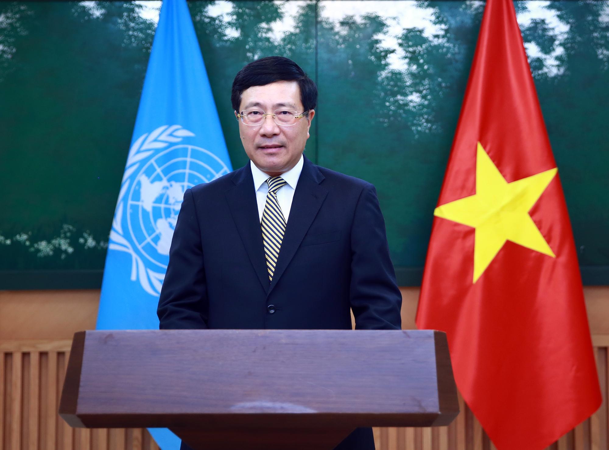 Phó Thủ tướng Phạm Bình Minh gửi thông điệp tới khóa họp Liên Hợp quốc
