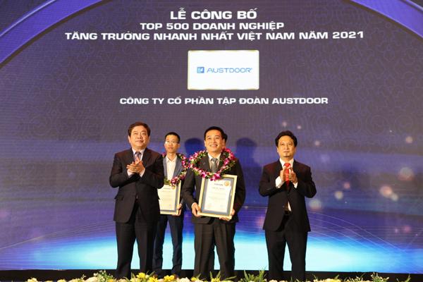 Tập đoàn Austdoor vào top 10 DN tăng trưởng nhanh nhất Việt Nam