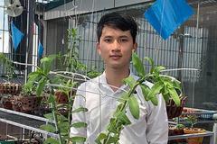 9x đẹp trai tự tay trồng vườn lan tuyệt sắc