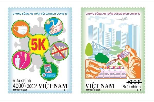 Bộ TT&TT phát hành bộ tem bưu chính thứ hai về phòng, chống Covid-19
