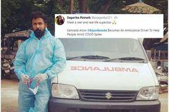 Diễn viên Ấn Độ tình nguyện lái xe cứu thương chở bệnh nhân Covid-19