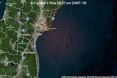 Xem động đất gây rung chuyển miền bắc Nhật Bản
