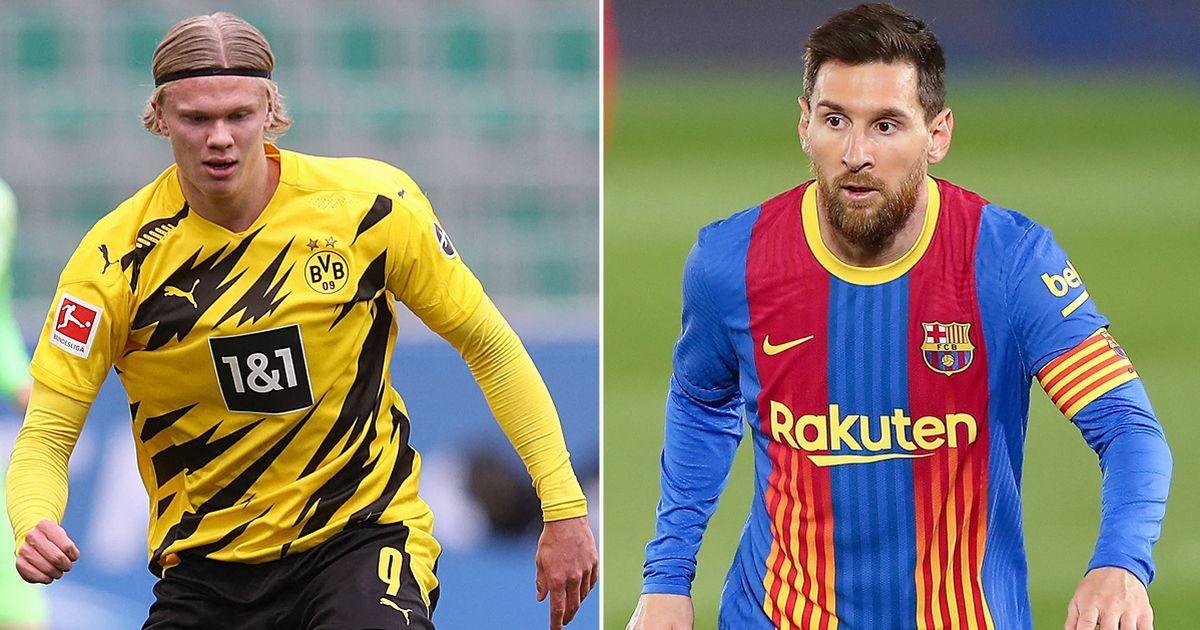 Messi giảm 50% lương để Barca ký Haaland
