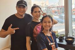 Diễn viên Minh Tiệp hạnh phúc bên vợ kém 13 tuổi và con gái
