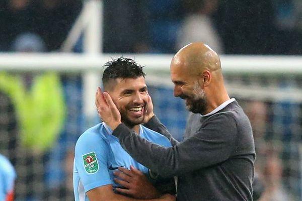 Pep Guardiola khiến Aguero nức lòng trước khi rời Man City