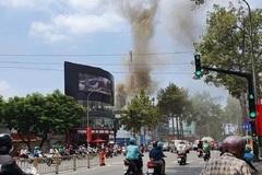 Cháy nhà tại trung tâm Sài Gòn, giữa trưa nắng nóng