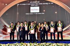 Becamex IDC đứng đầu Top 10 doanh nghiệp BĐS công nghiệp uy tín 2021