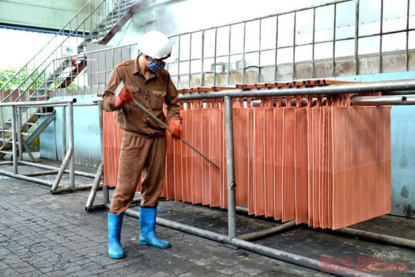 Copper production at the country's largest mine