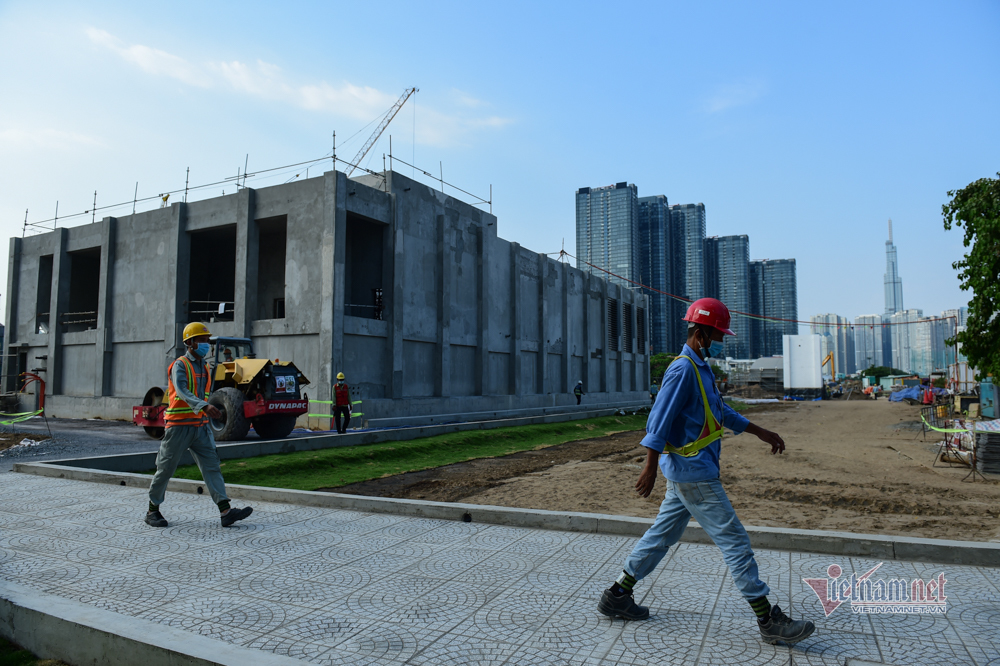 Hình ảnh ga ngầm Ba Son tuyến metro số 1 hoàn thành trước 1 tháng